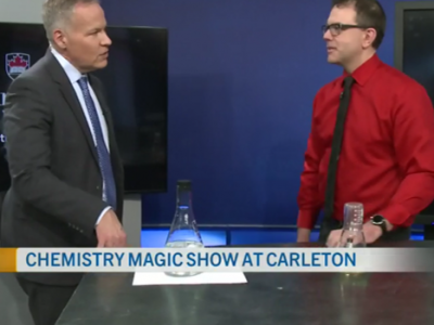 Photo for the news post: Jeff Manthorpe shares the magic of chemistry on CTV Ottawa Morning Live