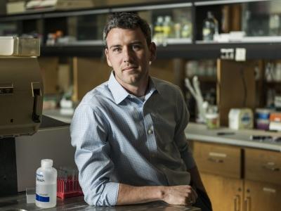 Photo for the news post: Biology Prof. Kyle Biggar Receives a Faculty Graduate Mentoring Award