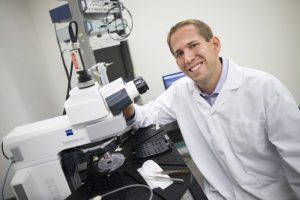 Portrait of Michael Hildebrand in a lab