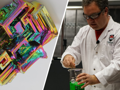 Photo for the news post: Dean of Science Chuck Macdonald Discusses Bismuth on CBC Element of Surprise Segment