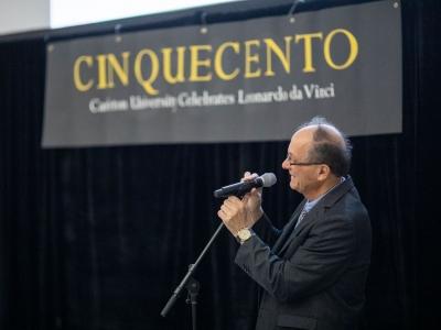 Photo for the news post: VIDEO: Angelo Mingarelli reflects on Carleton's celebration of Leonardo da Vinci in 2019