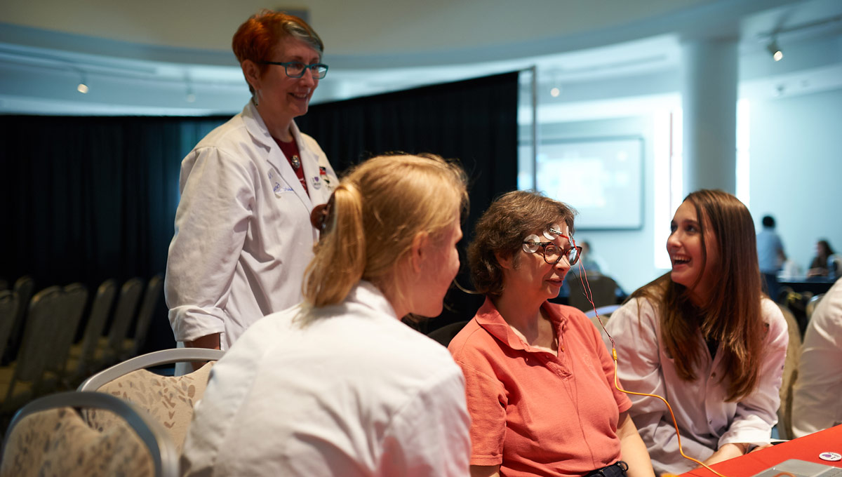 Neuroscience students held a demonstration as part of a showcase of the human brain at an event at the Canadian Museum of Nature