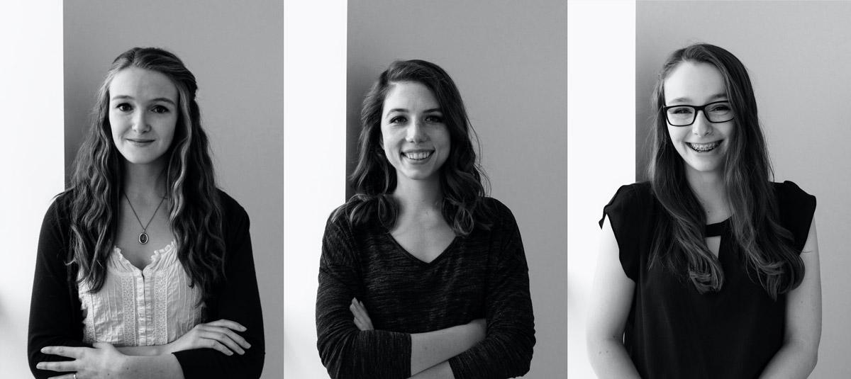 Kayla Schumacker, Mikayla Payant, Rebecca Butler