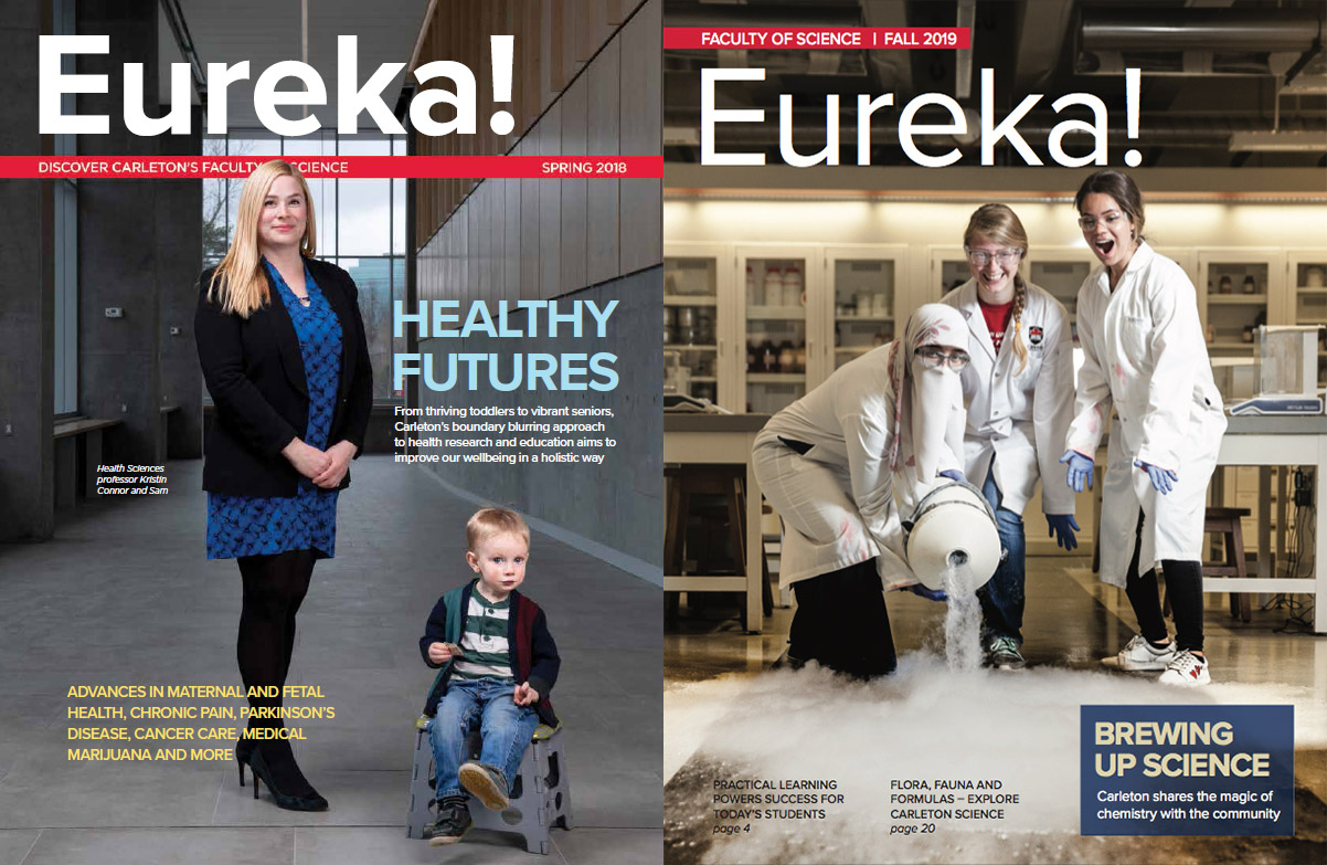 Covers of two Eureka Magazines