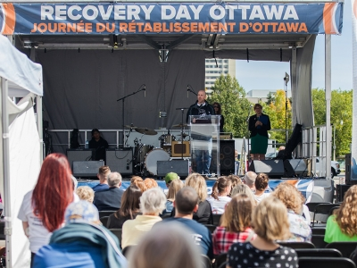 """Photo for the news post: Kim Hellemans Presents """"Stigma, Addiction, and the Brain"""" During Recovery Day Ottawa"""