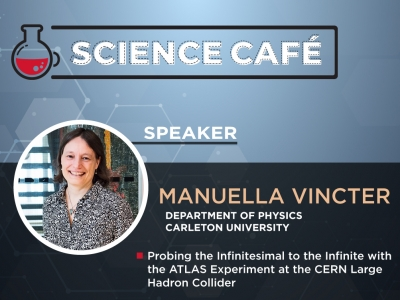 Photo for the news post: Online Science Café – Probing the Infinitesimal to the Infinite with the ATLAS Experiment at the CERN Large Hadron Collider